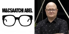 M&C Saatchi Abel logo and Dustin Chick