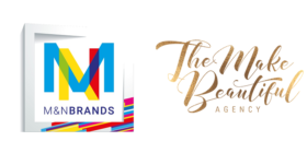 M&N Brands logo and The Make Beautiful Agency logo