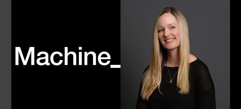 Machine_ logo and Robyn Campbell