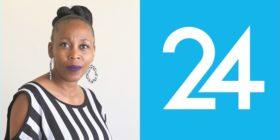 Mapula Nkosi and Media24 logo