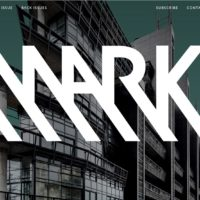Mark Magazine landing page as of August 2017