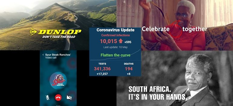 MarkLives AdChamps collage May 2020 with SA covid-19 stats 10 May 2020 - Media Hack Collective