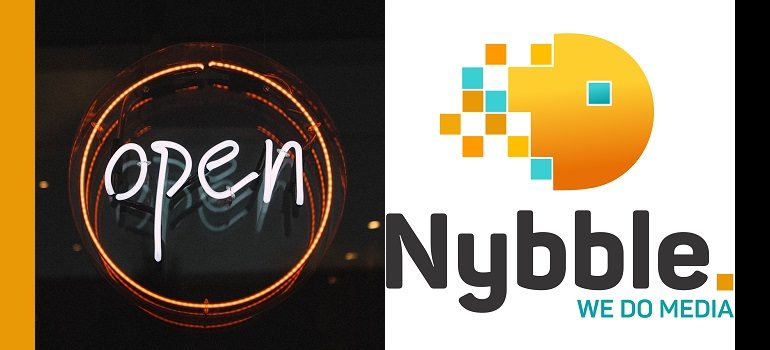 MarkLives open for business Nybble logo