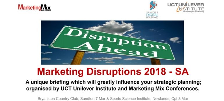 Marketing Disruptions 2018