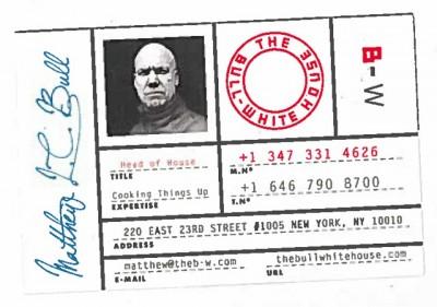 Matthew Bull's business card