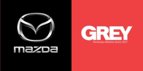 Mazda logo and Grey logo