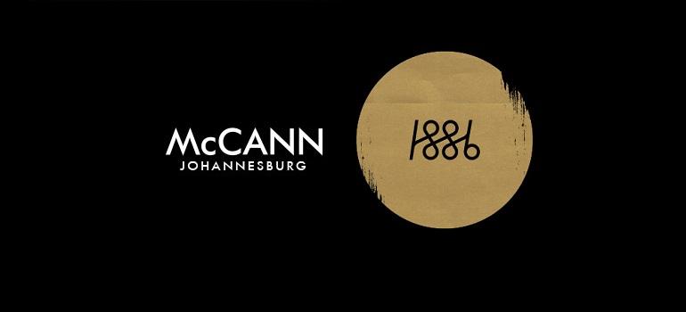 McCann Johannesburg logo and 1886 logo