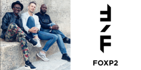Mthunzi Plaatjie, Grant Jacobsen, Grant Sithole and new FoxP2 logo