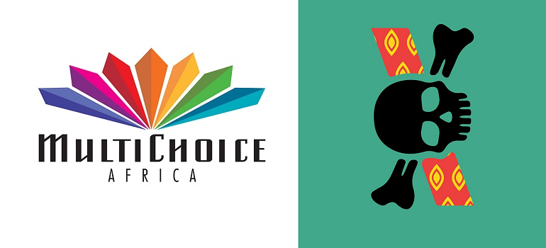 Multichoice Africa logo and TBWA logo
