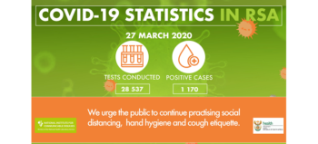 NICD South African covid-19 stats 27 March 2020