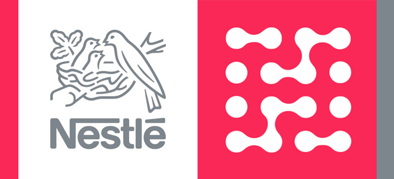 Nestlé logo and Hoorah Digital logo