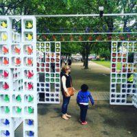 Raisin.com and Retroviral origami installation
