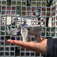 Raisin.com and Retroviral origami rhino by Ross Symons