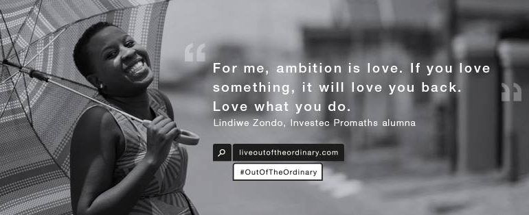 Out of the ordinary Lindiwe Zondo via Facebook