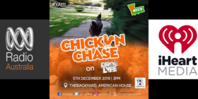 Radio Australia logo, YFM Ghana Chicken Chase and iHeartMedia logo