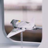 Raisin.com origami plane