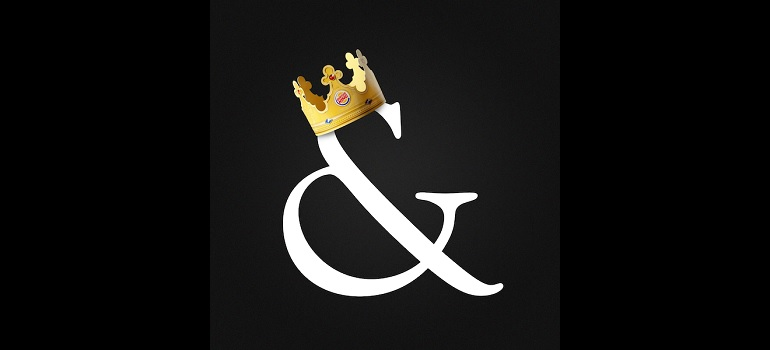 Saatchi & Saatchi ampersand with Burger King crown