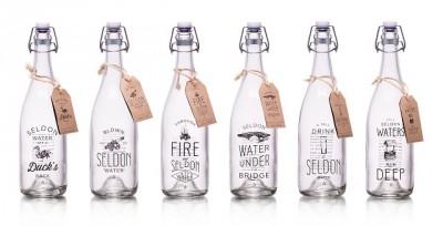 Seldon Water glass bottles 1