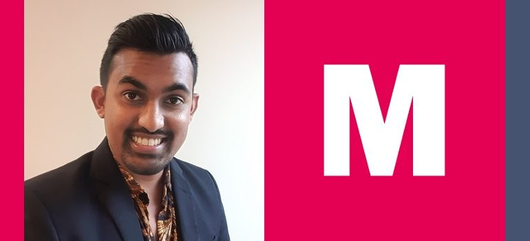 Shaneel Singh and MediaCom logo