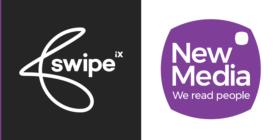 Swipe iX logo and New Media logo
