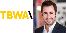 TBWA logo and Luca Gallarelli