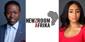 Thokozani Nkosi, Newzroom Afrika logo and Thabile Ngwato