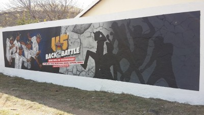 Township wall media specialists Keys Communications - example of wall advertising