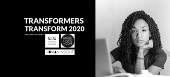 #Transformers Transform 2020 logo for gender inequality