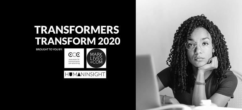 #Transformers Transform 2020 logo for gender inequality