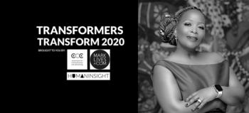 Transformers Transform 2020 logo with Mathe Okaba