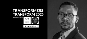 #Transformers Transform 2020 logo with Mlungisi Larry Khumalo-McArthur
