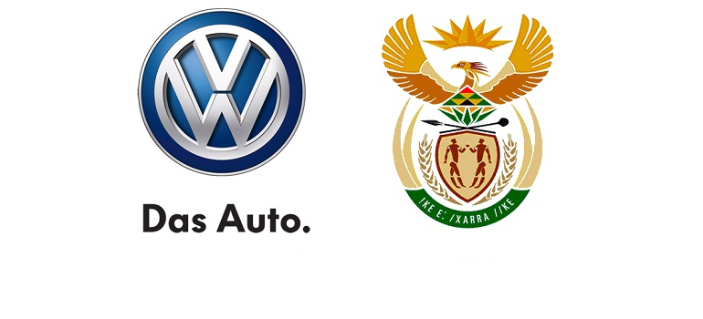 VW logo and South African coat of arms