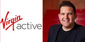 Virgin Active logo and Gareth McPherson