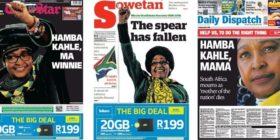 Winnie Madikizela-Mandela front pages slider 2