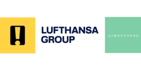 achtung! logo, Lufthansa group logo and Atmosphere Communications logo