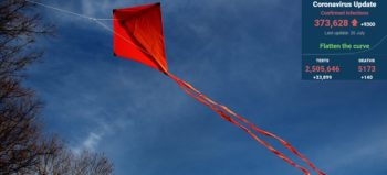 cloud-sky-wind-line-red-flag courtesy of pxhere with SA covid-19 stats 20 Jul 2020 - Media Hack Collective