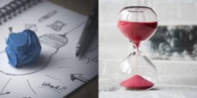 creativity-idea-inspiration and hourglass-tine-hours-clock both courtesy of Pixabay