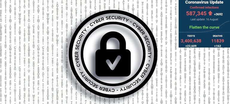 cyber-security-protection-cyber by Pete Linforth courtesy of Pixabay with SA covid-19 stats 16 Aug 2020 - Media Hack Collective