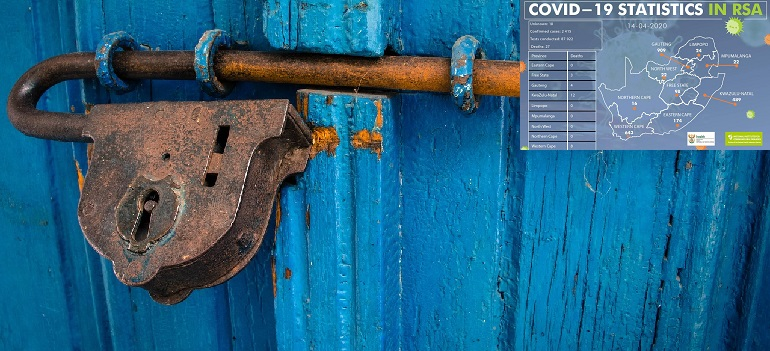 door-blue-rusty-entrance-wood-old by Omar González courtesy of Pixabay with NICD covid-19 stats 14 April 2020