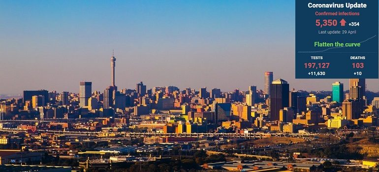 johannesburg-urban-city-scenic by Gia Conte-Patel courtesy of Pixabay with SA covid-19 stats 29 April - Media Hack Collective