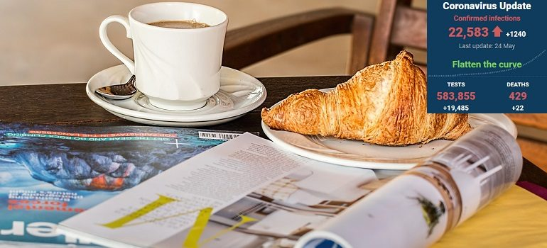 magazine-coffee-break-cup-media by Steve Buissinne courtesy of Pixabay with SA covid-19 stats 24 May 2020 - Media Hack Collective