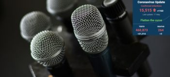 microphone-micro-microphone-stand by congerdesign courtesy of Pixabay with SA covid-19 stats 17 May 2020 - Media Hack Collective