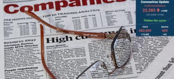 newspaper-spectacles-glasses by Steve Buissinne courtesy of Pixabay with SA covid-19 stats 24 May 2020 - Media Hack Collective