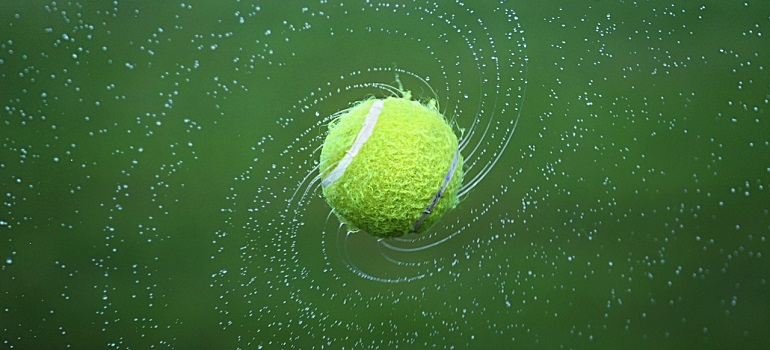tennis-tennis-ball-spinning-ball by Bessi courtesy of Pixabay