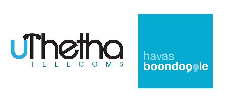 uTetha Telecoms logo and Havas Boondoggle logo