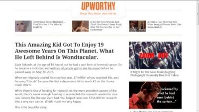 Upworthy screengrab